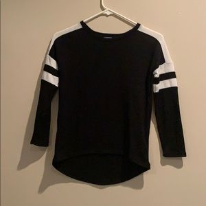 Black  sweater with stripes